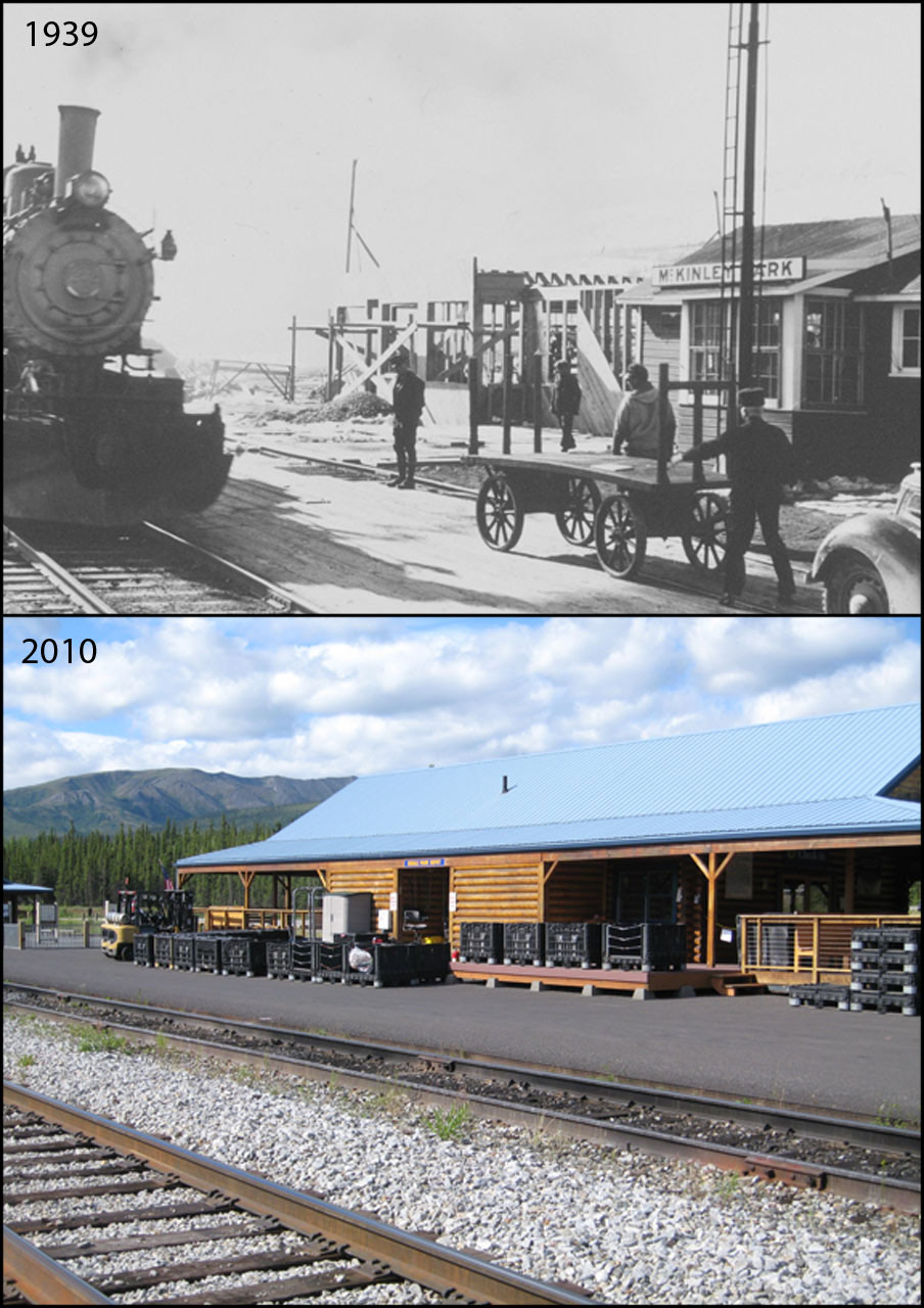 train station photo pair